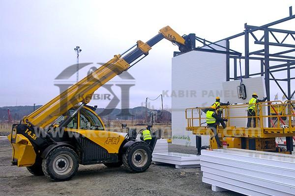 جزئیات نصب و اجرای ساندویچ پانل های دیواری و سقفی - کبیر پانل